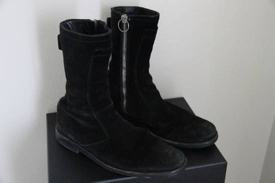 Dior RARE AW04 Dior Homme 'VOTC' Hedi Slimane Black Suede Leather Boots 42 / 9 Size US 9 / EU 42 - 3