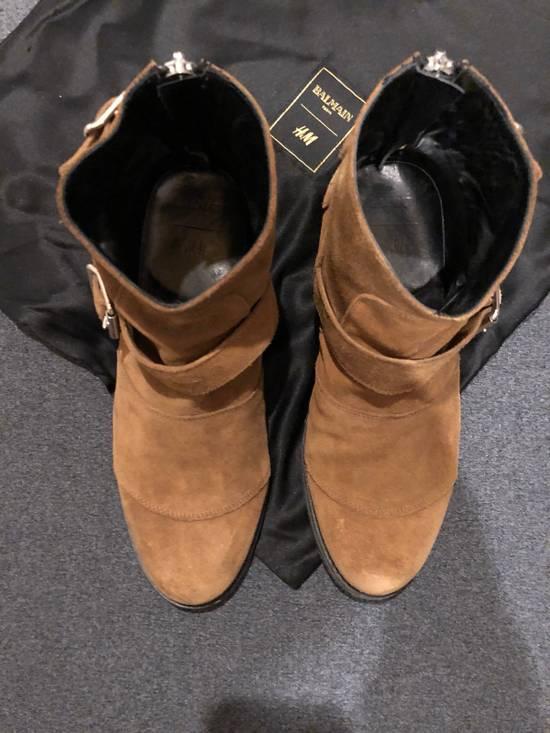 Balmain Brown Suede Boots Size US 8.5 / EU 41-42 - 1