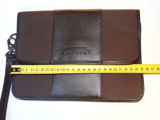 Givenchy Givenchy gentleman documents pouch case brown wine leather MINT made in Italy Rare Size ONE SIZE - 2