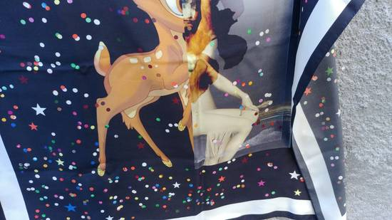 Givenchy Givenchy Black Bambi Confetti Print Large Rottweiler Silk Scarf (86 cm x 86 cm) Size ONE SIZE - 4