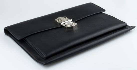 Givenchy Black Leather Diplomatica Briefcase Bag Size ONE SIZE - 5