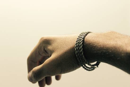 Givenchy Silver Braided Wrap Bracelet/Necklace Size ONE SIZE