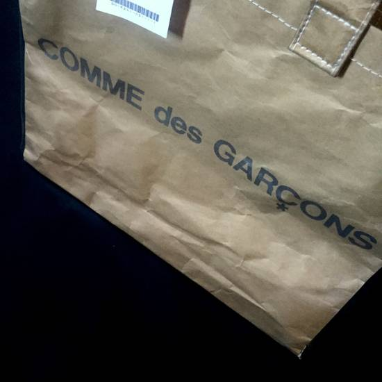 Comme des Garcons Brown Paper & Plastic Logo Tote Bag NWT Size ONE SIZE - 10
