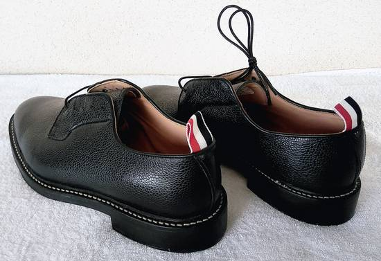 Thom Browne THOM BROWNE BLACK BLUCHER/DERBY IN PEBBLE GRAINED LEATHER Size US 10 / EU 43 - 2