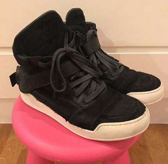 Balmain Balmain Black Pony Skin Fur High-top Sneakers Size US 8 / EU 41