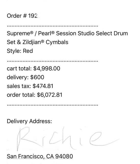 Supreme Supreme Drum set Size ONE SIZE - 1