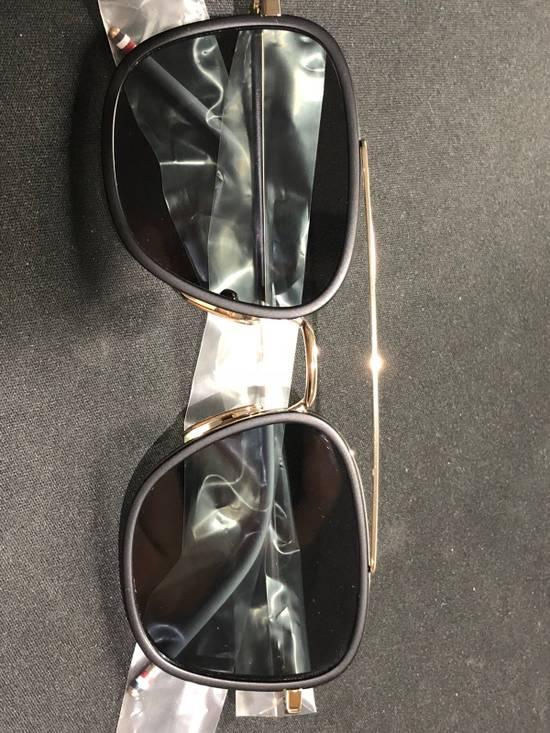 Thom Browne TB-800 14K Gold Black Dark Grey Sunglasses Size ONE SIZE - 9