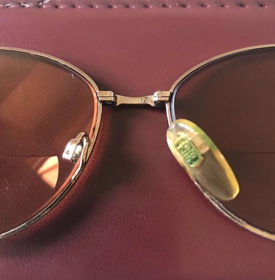 Givenchy Vintage 90s Gold Tortoise Round Oval Givenchy Frames Eyeglasses Brown Red Lenses Sunglasses Size ONE SIZE - 6