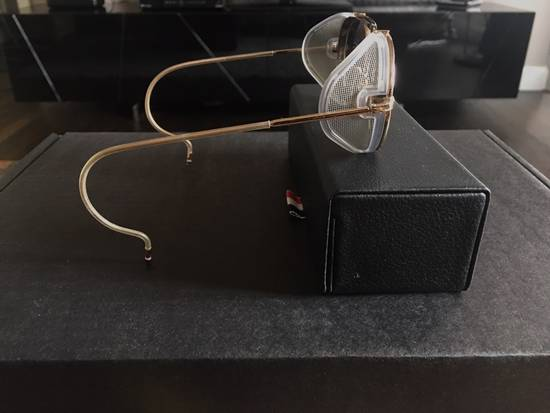 Thom Browne Thom Browne 12K Gold Aviator Sunglasses Size ONE SIZE - 1