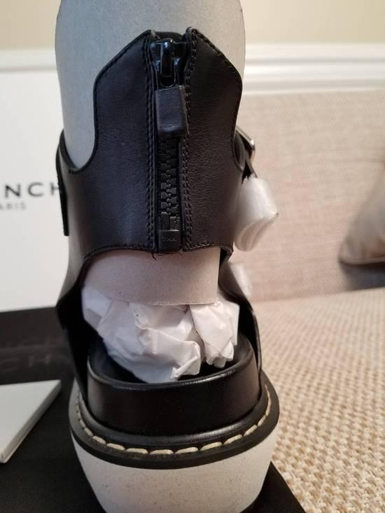 Givenchy Black Leather Multi-Strap Sandals Size US 12 / EU 45 - 1