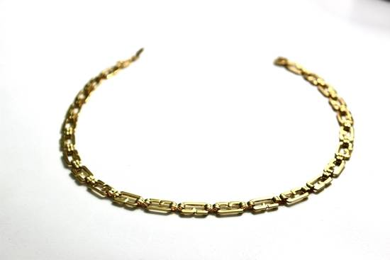 Givenchy Gold Plated Monogram Link Necklace Size ONE SIZE - 1