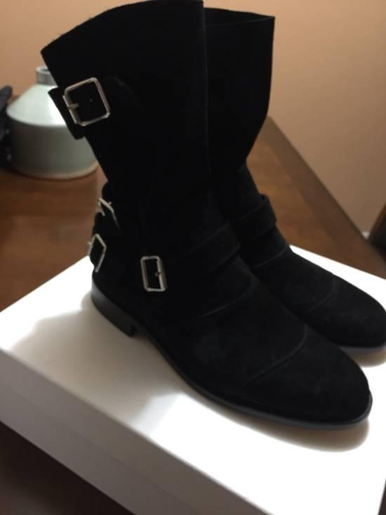 Balmain Black Suede Boots Size US 9 / EU 42