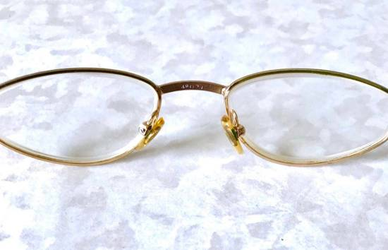 Givenchy Givenchy Gold Vintage 90s Oval Round Frames Square Eyeglasses Size ONE SIZE - 4