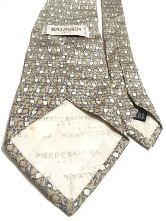 Balmain Vintage Balmain Tie Pierre Balmain Silk Necktie Animal Repeat Tie Size ONE SIZE - 4