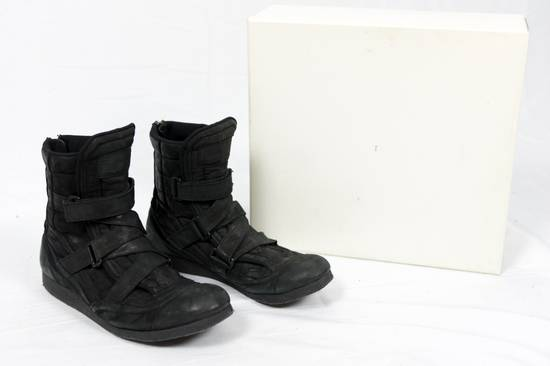 Julius AW11 Waxed Black Strapped Leather Boots Size US 9 / EU 42