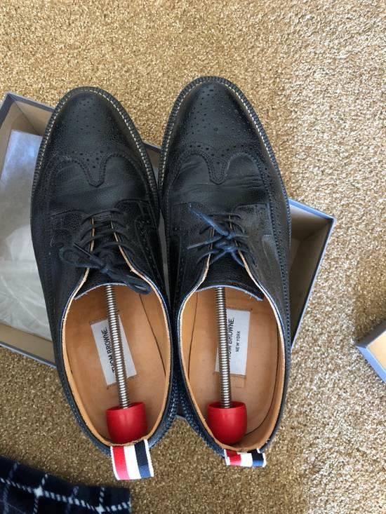 Thom Browne Men's Black Pebble Wingtip Brogue Shoe Size US 12 / EU 45 - 5