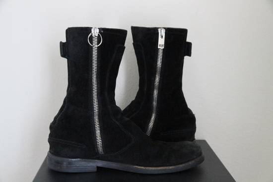Dior RARE AW04 Dior Homme 'VOTC' Hedi Slimane Black Suede Leather Boots 42 / 9 Size US 9 / EU 42