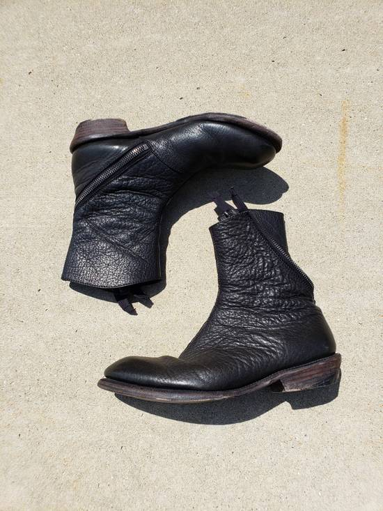 Julius Spiral Zip Leather Boot Size US 9.5 / EU 42-43