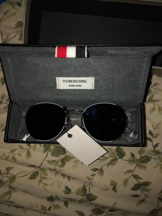 Thom Browne Thom Browne Round-Frame Silver Tone Sunglasses made in japan blue lenses 100 UV Tb-106-B Size ONE SIZE - 2