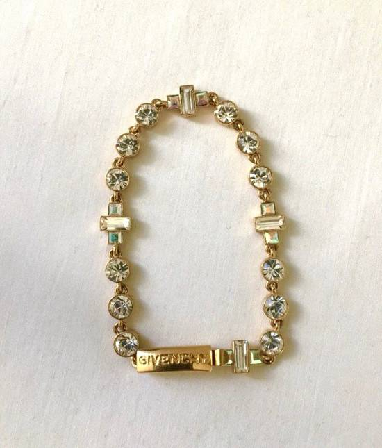 Givenchy Givenchy Gold Tone Crystal Iced Out Tennis Bracelet Diamonds Size ONE SIZE
