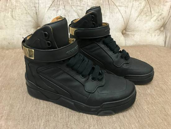 Givenchy High-Top Gold-Strap Sneaker Size US 7 / EU 40 - 10