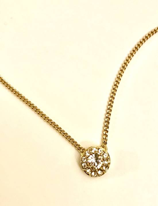 Givenchy Givenchy Gold Tone Necklace Crystal Pendant Chain Diamonds Size ONE SIZE - 2