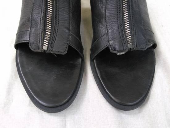 Julius Black Leather Zip Sandals s/s09 Size US 9.5 / EU 42-43 - 2