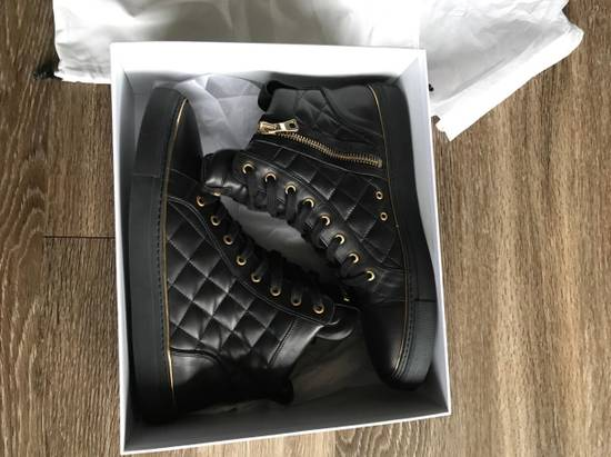 Balmain Quilted Hi Top Sneakers Size US 11 / EU 44 - 7