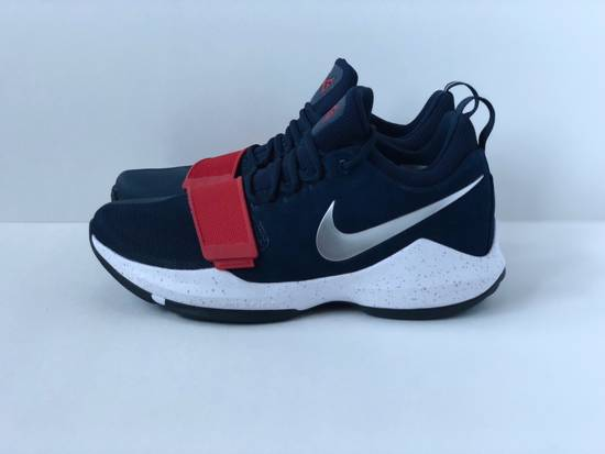 info for 39eb6 8124c ... Nike NIKE PG 1 USA  SZ 10.5  BASKETBALL PAUL GEORGE NAVY BLUE RED WHITE  ...