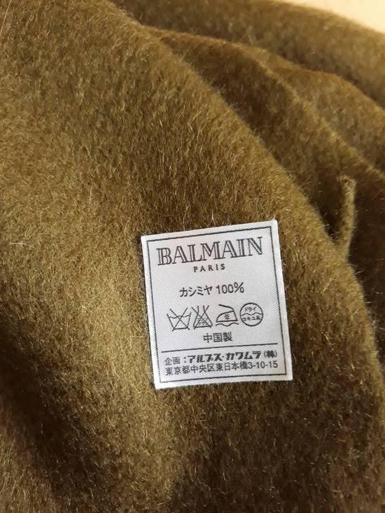 Balmain Large Fringe Cashmere Scarf Muffler Size ONE SIZE - 4