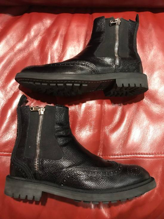 Givenchy Double Zip Wingtip Chelsea Boots Size US 9.5 / EU 42-43 - 6