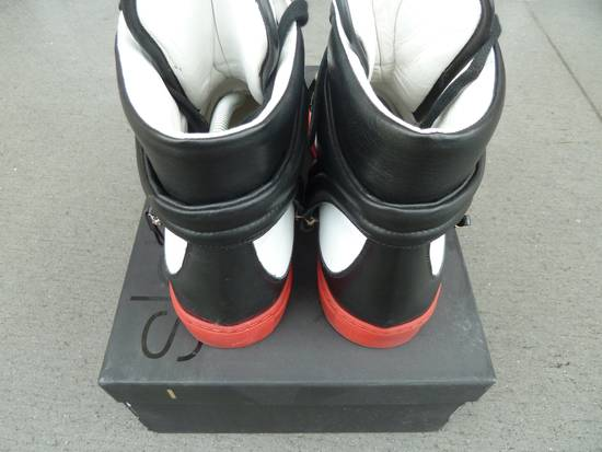 """Givenchy NO GIVENCHY ! D-Side """"Marshall"""" Star Studs Hitops Red/Black/White Size US 10 / EU 43 - 3"""