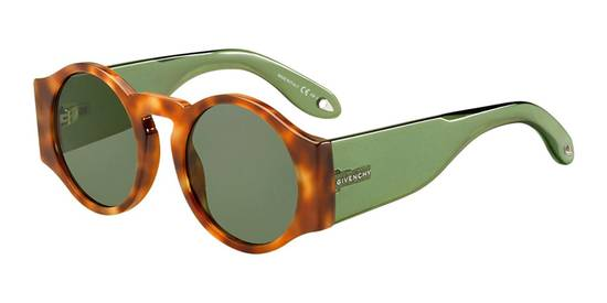 Givenchy SALE! NEW Givenchy 7056 Havana Brown Green Tinted Lens Round Sunglasses Size ONE SIZE