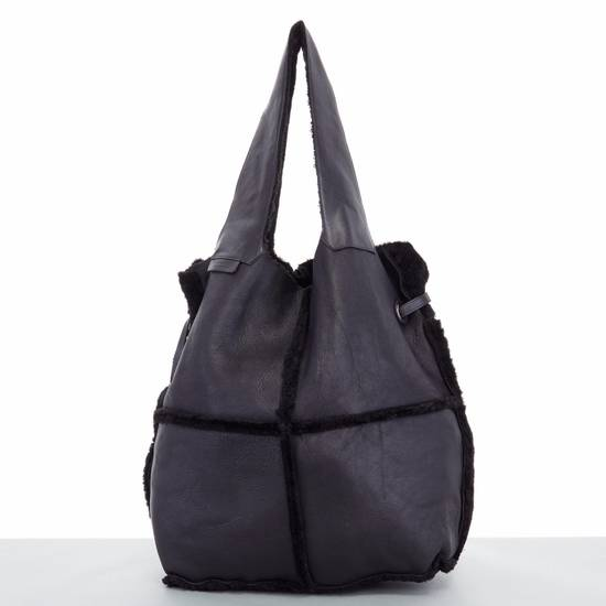 Givenchy GIVENCHY TISCI black reversible leather shearling fur oversize hobo shoulder bag Size ONE SIZE - 3