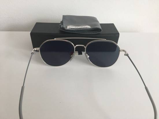 Thom Browne THOM BROWNE TB 105 Sunglasses Silver Grey Mirror New Retails $895 Size ONE SIZE - 1