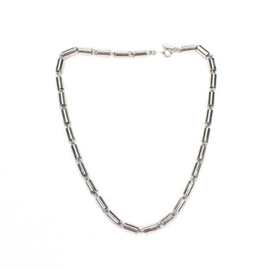 Givenchy 1976 Silver Barrel Chain Necklace / Bracelet Size ONE SIZE