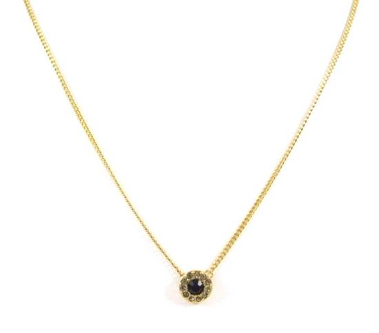 Givenchy Black Crystal Pendant Givenchy Gold Chain Necklace Size ONE SIZE