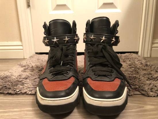 Givenchy Basketball Star-Studded High-Top Sneaker, Black Size US 11 / EU 44