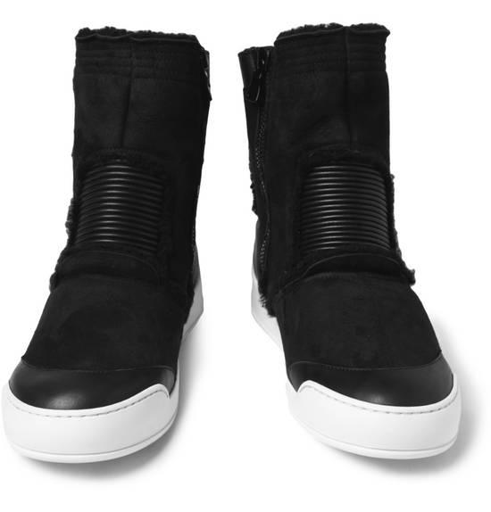 Balmain SHEARLING Black Hi-Tops Size US 10 / EU 43 - 3