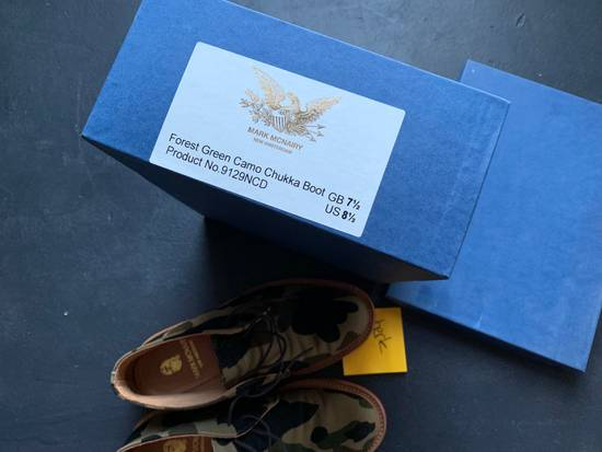Mark Mcnairy New Amsterdam Mark McNairy x A Bathing Ape Forest Green Camo Chukka Boot Size US 8.5 / EU 41-42 - 1