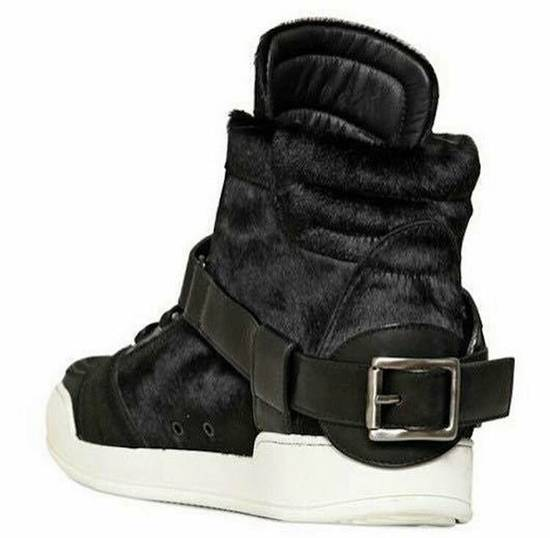 Balmain Balmain Black Pony Skin Fur High-top Sneakers Size US 8 / EU 41 - 5