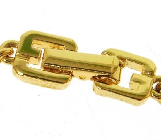 Givenchy Givenchy Logo Charm Bracelet Gold Tone G Clasp Size ONE SIZE - 1
