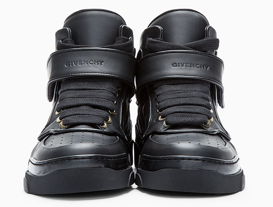 Givenchy BNIB DS Givenchy Black Leather Velcro-strap mid-top Size US 9.5 / EU 42-43 - 9
