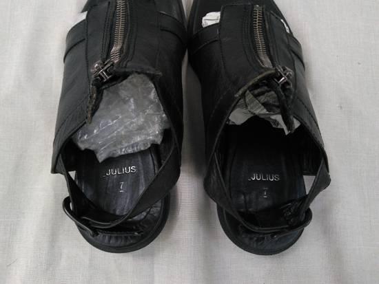 Julius Black Leather Zip Sandals s/s09 Size US 9.5 / EU 42-43 - 3