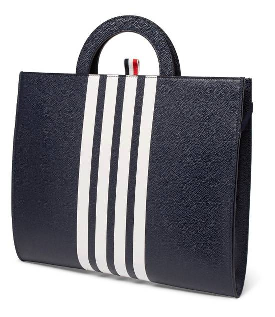 Thom Browne NWT Striped Pebble-grain Leather Briefcase Size ONE SIZE - 2