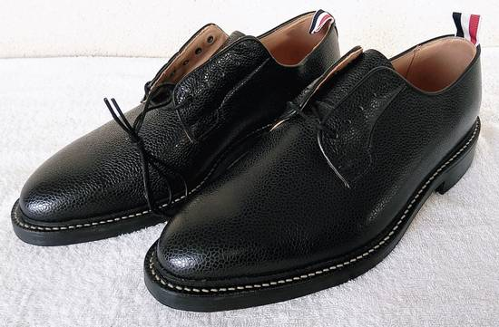 Thom Browne THOM BROWNE BLACK BLUCHER/DERBY IN PEBBLE GRAINED LEATHER Size US 10 / EU 43