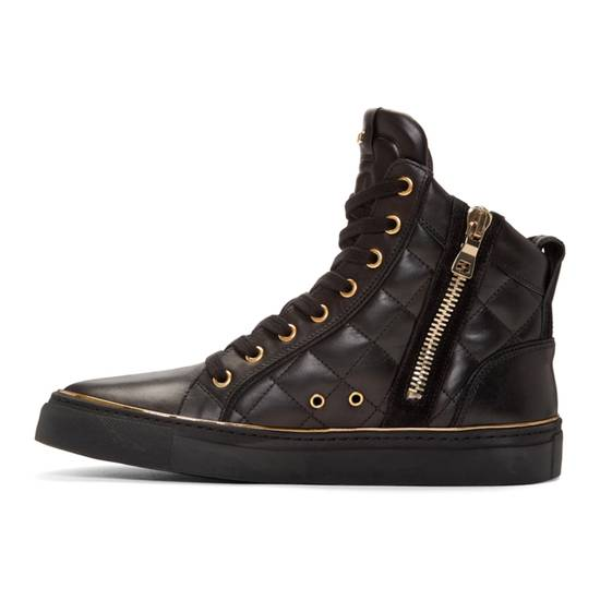 Balmain Quilted Hi Top Sneakers Size US 11 / EU 44 - 9