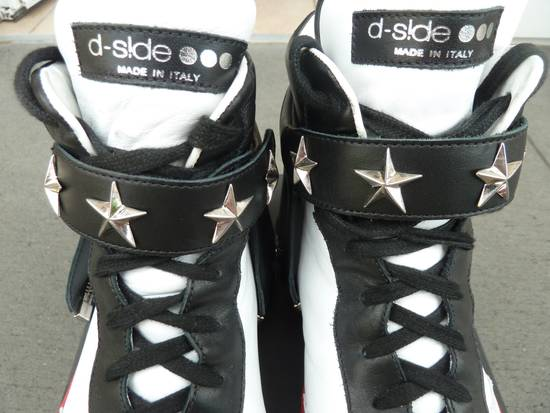 """Givenchy NO GIVENCHY ! D-Side """"Marshall"""" Star Studs Hitops Red/Black/White Size US 10 / EU 43 - 5"""