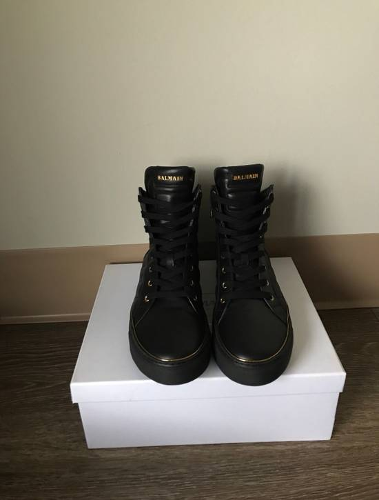 Balmain Quilted Hi Top Sneakers Size US 11 / EU 44 - 1