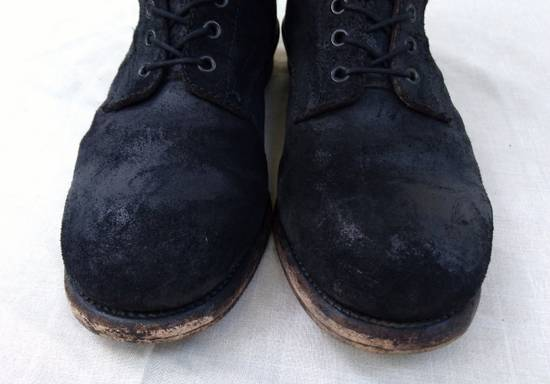 Julius Black Reversed Leather Backzip Combat Boots Size US 11 / EU 44 - 2